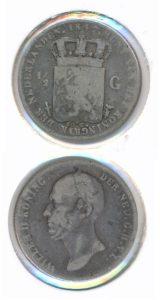 Nederland 1847 0,5 Gulden Willem II