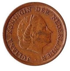 Nederland 1968 1 cent Juliana