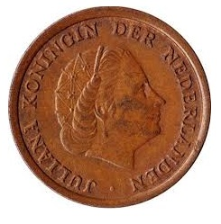 Nederland 1969 1 cent haan Juliana