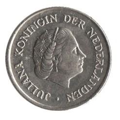 Nederland 1957 25 cent Juliana