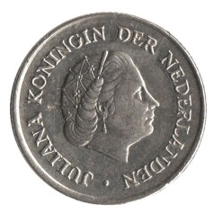 Nederland 1958 25 cent Juliana