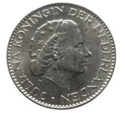 Nederland 1957 1 Gulden zilver Juliana