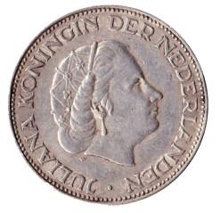 Nederland 1962 2,5 Gulden zilver Juliana