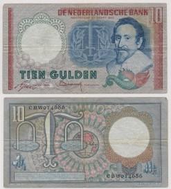 Nederland 1953 10 Gulden bankbiljet Hugo de Groot