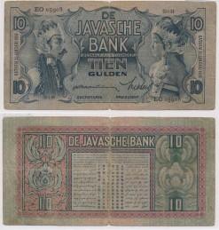 Javasche bank 1934 10 Gulden bankbiljet