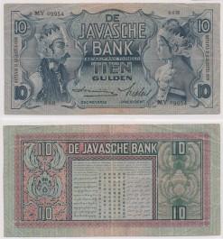 Javasche bank 1939 10 Gulden bankbiljet