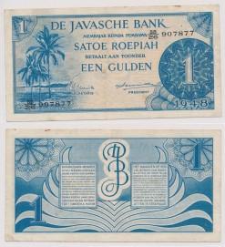 Javasche bank 1948 1 Gulden bankbiljet
