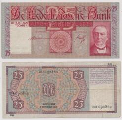 Nederland 1931 25 Gulden bankbiljet Mees