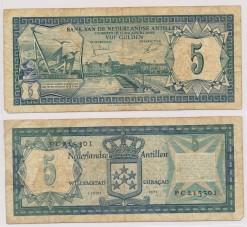 Nederlandse Antillen 1972 5 Gulden bankbiljet