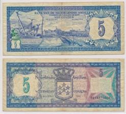 Nederlandse Antillen 1980 5 Gulden bankbiljet