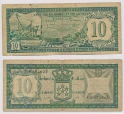 Nederlandse Antillen 1972 10 Gulden bankbiljet