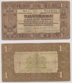 Nederland 1938 1 Gulden bankbiljet Zilverbon