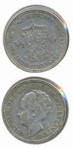 Nederland 1929 0,5 Gulden Wilhelmina