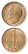 Nederland 1948 1 cent Wilhelmina