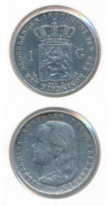 Nederland 1897 1 Gulden Wilhelmina