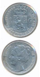 Nederland 1908 1 Gulden Wilhelmina