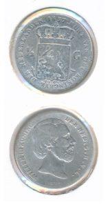 Nederland 1857 0,5 Gulden Willem III