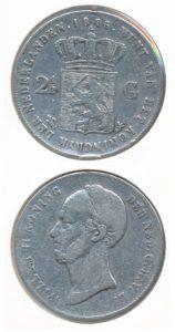 Nederland 1846 2,5 Gulden Willem II