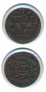 West Friesland 1739 duit