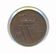 Nederland 1877 1 cent Willem III