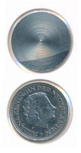Nederland 1 Gulden No 9 Juliana onbedrukt rariteit