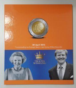 Nederland verzameling euro en gulden munten in Leuchtturm album