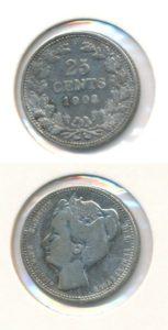 Nederland 1903 25 cent Wilhelmina