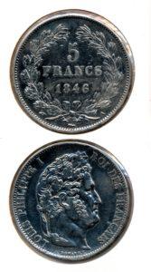 Frankrijk 1846 5 francs