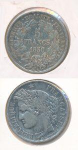 Frankrijk 1850 5 francs