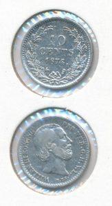 Nederland 1874 10 cent Willem III