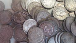Nederland 1903 - 1944 zilveren dubbeltjes 100 stuks