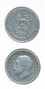 Engeland 1913 6 pence