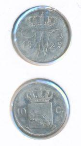 Nederland 1825 Utrecht 10 cent Willem I