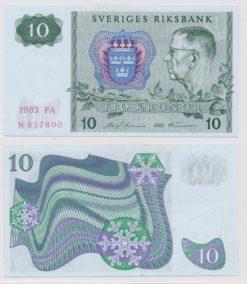 Zweden 1963 - 1990 10 Kronen bankbiljet