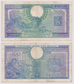Belgie 1943 500 Francs bankbiljet