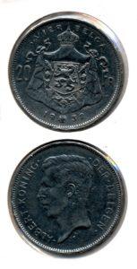 Belgie 1932 20 franc