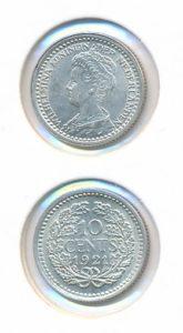 Nederland 1921 10 cent Wilhelmina