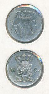 Nederland 1825 Utrecht 25 cent Willem I