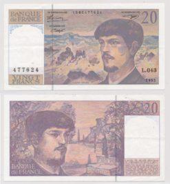 Frankrijk 1980 - 1997 20 Francs bankbiljet
