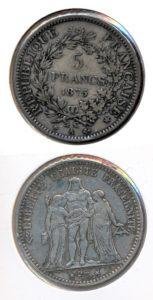 Frankrijk 1875 A 5 francs