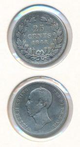 Nederland 1848 25 cent Willem II