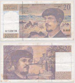 Frankrijk 1997 20 Francs bankbiljet
