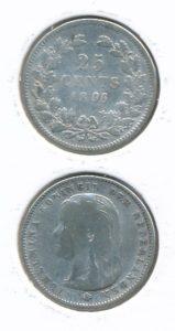 Nederland 1896 25 cent Wilhelmina