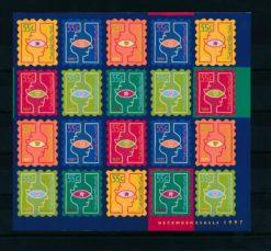Nederland 1997 velletje Decemberzegels  NVPH V1740-45