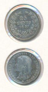 Nederland 1897 25 cent Wilhelmina