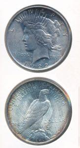 Verenigde Staten 1922 1 dollar zilver