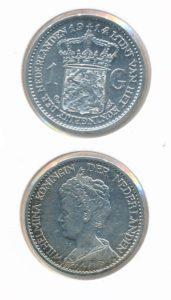Nederland 1914 1 Gulden Wilhelmina