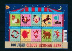 Nederland 2011 Circus Herman Renz velletje  NVPH 2868-77