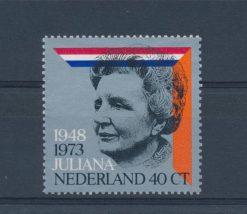 Nederland 1973 25 jarig regeringsjubileum Juliana NVPH 1036