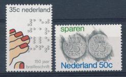 Nederland 1975 150 jaar Brailleschrift, Sparen NVPH  1077-78